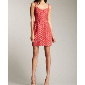 Frock by Tracey Reese pink brick pattern dress